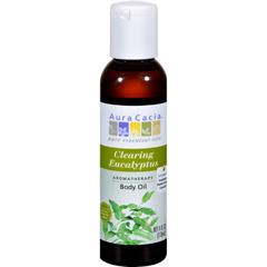 HGR0277434 - Aura CaciaAromatherapy Bath Body and Massage Oil Eucalyptus Harvest - 4 fl oz