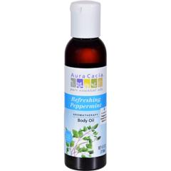 HGR0277558 - Aura CaciaAromatherapy Bath Body and Massage Oil Peppermint Harvest - 4 fl oz