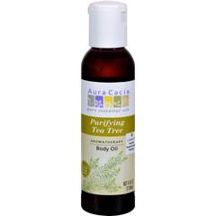 HGR0277590 - Aura CaciaAromatherapy Bath Body and Massage Oil Tea Tree Harvest - 4 fl oz