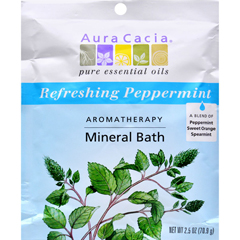 HGR0277632 - Aura CaciaAromatherapy Mineral Bath Peppermint Harvest - 2.5 oz - Case of 6
