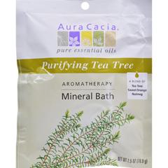 HGR0277640 - Aura CaciaAromatherapy Mineral Bath Tea Tree Harvest - 2.5 oz - Case of 6