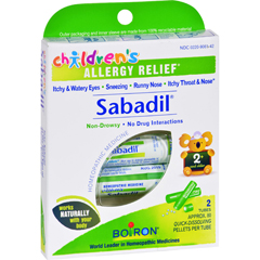 HGR0279489 - BoironChildrens Sabadil Pellets - 2 Tubes