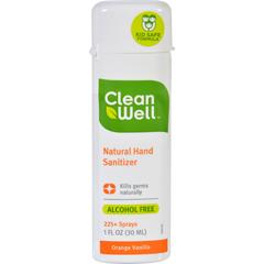 HGR0281964 - CleanWellHand Sanitizer Display - Orange - Case of 24 - 1 oz