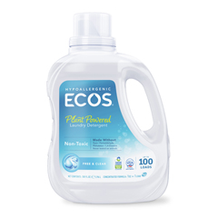 HGR0285262 - Earth Friendly Products - Ecos Ultra 2x All Natural Laundry Detergent - Free and Clear - Case of 4 - 100 fl oz