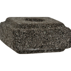 HGR0285528 - Aloha Bay - Taper Candle Holder Lava Stone - 1 Candle Holder
