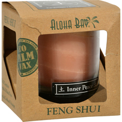 HGR0286443 - Aloha BayFeng Shui Elements Palm Wax Candle - Earth/Inner Peace - 2.5 oz