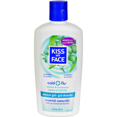 HGR0288241 - Kiss My FaceBath and Shower Gel Cold And Flu Eucalyptus and Menthol - 16 fl oz