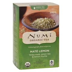 HGR0290775 - Numi - Rainforest Green Tea Mate Lemon - 18 Tea Bags - Case of 6