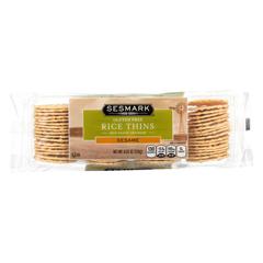 HGR0294363 - Sesmark Foods - Rice Thins - Sesame - Case of 12 - 4.25 oz.