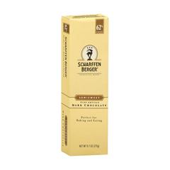 HGR0294983 - Scharffen Berger - Semisweet 62 Percent Cacao Fine Artisan Dark Chocolate Bar - Case of 6 - 9.7 oz..