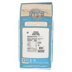 HGR0296160 - Lundberg Family Farms - Organic Sushi Short Grain White Rice - Case of 25 lbs