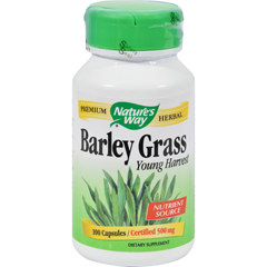 HGR0296509 - Nature's WayBarley Grass Young Harvest - 100 Capsules