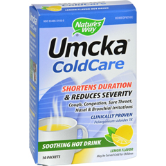 HGR0300434 - Nature's WayUmcka ColdCare Soothing Hot Drink Lemon - 10 Packets