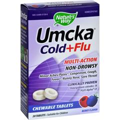 HGR0300723 - Nature's Way - Umcka Cold Plus Flu Berry - 20 Chewables