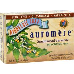 HGR0301333 - AuromereAyurvedic Bar Soap Sandalwood-Turmeric - 2.75 oz