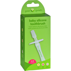 HGR0302273 - Green SproutsSilicone Baby Toothbrush