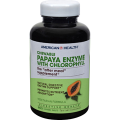 HGR0306209 - American HealthPapaya Enzyme With Chlorophyll Chewable - 600 Chewable Tablets