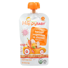HGR0307579 - Happy BabyOrganic Baby Food Stage 3 Chick Chick - 4 oz - Case of 16
