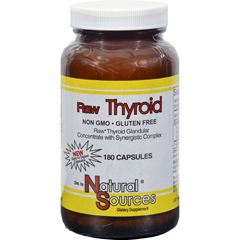 HGR0309963 - Natural SourcesRaw Thyroid - 180 Caps