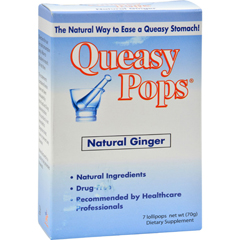 HGR0312736 - Three LolliesQueasy Pops Ginger - 7 Pops