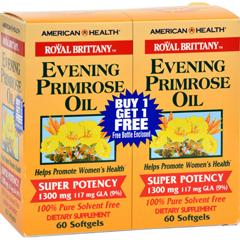HGR0313940 - American Health - Evening Primrose Oil - 1300 mg - 60+60 Softgels