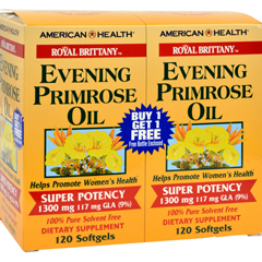 HGR0313957 - American HealthRoyal Brittany Evening Primrose Oil Twin Pack - 1300 mg - 120+120 Softgels