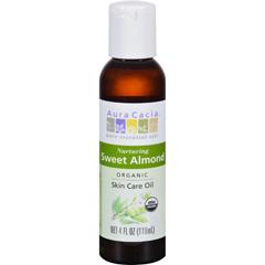 HGR0318790 - Aura CaciaOrganic Aromatherapy Sweet Almond Oil - 4 fl oz