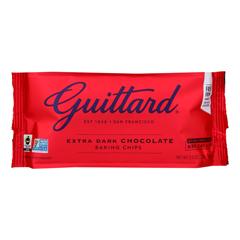 HGR0323980 - Guittard Chocolate - Extra Dark - Chocolate Chip - Case of 12 - 11.5 oz..