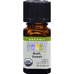 HGR0325274 - Aura CaciaOrganic Basil Sweet - .25 oz