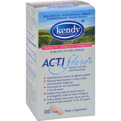 HGR0326314 - Kendy USAPrebiotic Probiotic Symbiotic ActiFlora Plus - 100 Capsules