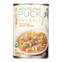 HGR0331017 - Wolfgang Puck - Organic Free Range Chicken Noodle Soup - Case of 12 - 14.5 oz..