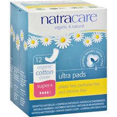 HGR0334904 - NatracareNatural Ultra Pads Organic Cotton Cover - Super Plus - 12 Pack