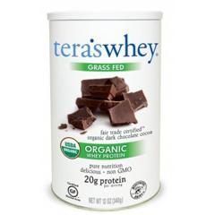 HGR0337592 - Tera's WheyProtein Powder - Whey - Organic - Fair Trade Certified Dark Chocolate Cocoa - 12 oz