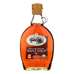 HGR0337956 - Shady Maple Farms - 100 Percent Pure Organic Maple Syrup - Case of 12 - 12.7 Fl oz..