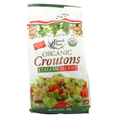 HGR0339655 - Edward & Sons - Organic Croutons - Italian Herbs - Case of 6 - 5.25 oz.