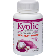 HGR0343251 - KyolicAged Garlic Extract Total Heart Health Formula 108 - 100 Capsules