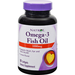HGR0343921 - NatrolOmega-3 Fish Oil Lemon - 1000 mg - 90 Softgels
