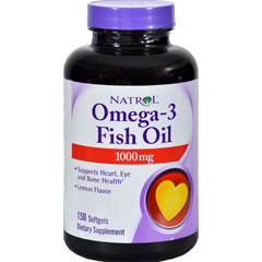 HGR0344143 - NatrolOmega-3 Fish Oil Lemon - 1000 mg - 150 Softgels