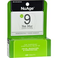 HGR0346627 - Hyland'sNuAge No.9 Natrum Mur - 125 Tablets