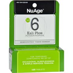 HGR0346684 - Hyland'sNuAge Labs 6 Potassium Phosphate - 125 Tablets
