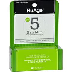 HGR0346726 - Hyland'sNuAge No 5 Kali Mur - 125 Tablets