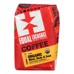 HGR0347658 - Equal Exchange - Organic Drip Coffee - Mind Body and Soul - Case of 6 - 12 oz..