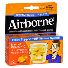 HGR0348425 - AirborneEffervescent Tablets with Vitamin C - Zesty Orange - 10 Tablets