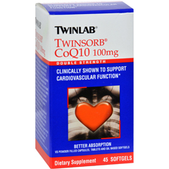 HGR0348466 - TwinlabTwinsorb CoQ10 - 100 mg - 45 Softgels