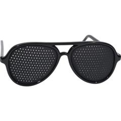 HGR0349001 - Heritage ProductsPinhole Glasses Full Frame Black - 1 Pair