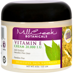 HGR0352096 - Mill CreekBotanicals Vitamin E Cream - 20000 IU - 4 oz