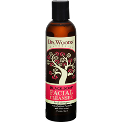 HGR0360768 - Dr. WoodsFacial Cleanser Black Soap and Shea Butter - 8 fl oz