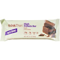 HGR0362731 - Think ProductsThin Bar - Dark Chocolate - Case of 10 - 2.1 oz