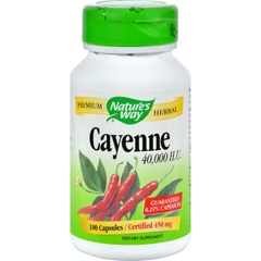 HGR0372409 - Nature's WayCayenne and Pepper - 450 mg - 100 Capsules