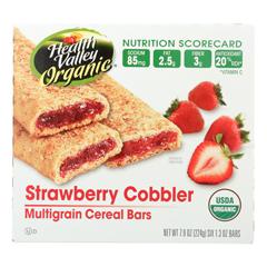 HGR0373522 - Health Valley Natural Foods - Multigrain Cereal Bars - Strawberry Cobbler - Case of 6 - 7.9 oz..